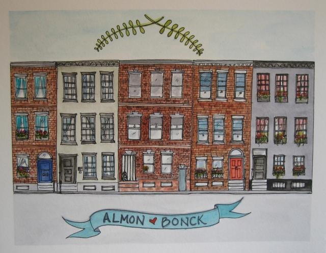 Illustration-Watercolor-House-Portrait-Row-Homes-Philadelphia