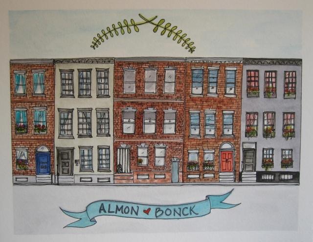 Illustration-Watercolor-House-Portrait-Row-Homes-Philadelphia