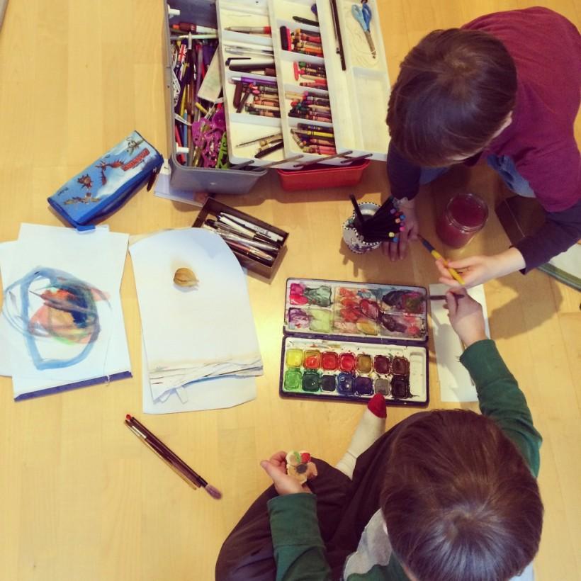 Sonia Brittain Art Painting with Children