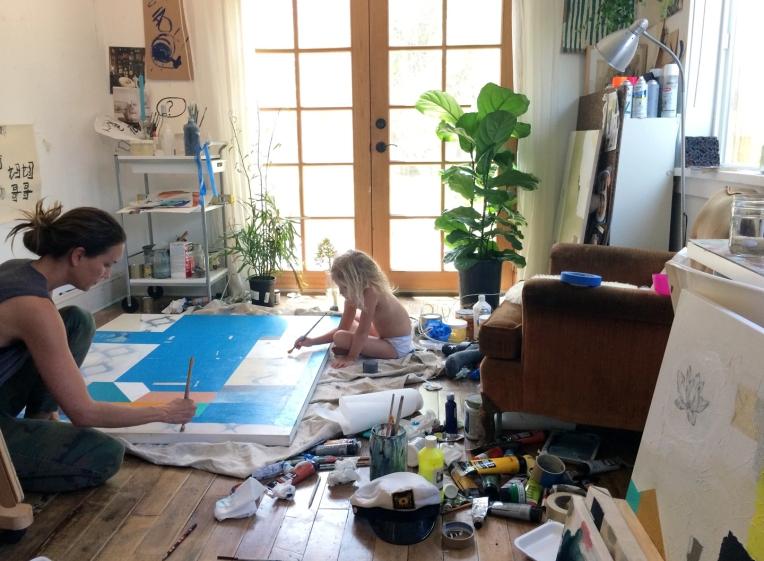 Karina-Bania-Artist-Painting-with-Olivia